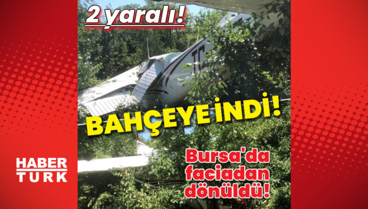 Eğitim uçağı bahçeye indi: 2 yaralı!
